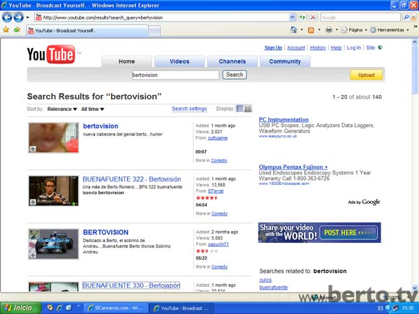 BERTOVISION YOUTUBE CULOS 1